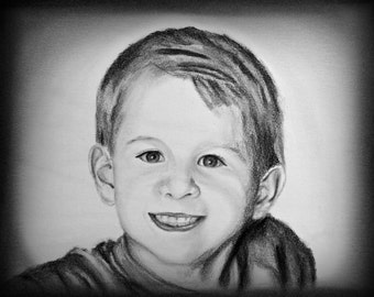Custom Portrait Pencil Sketch, Personalized Portrait, Personalised Portrait, Custom Family Portrait, Sketch from Photo, Pencil Portrait