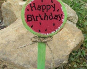 Watermelon Cake Topper, Watermelon Birthday Cake Topper, Watermelon Party, Watermelon Birthday, Happy Birthday Cake Topper, Picnic Cake Top