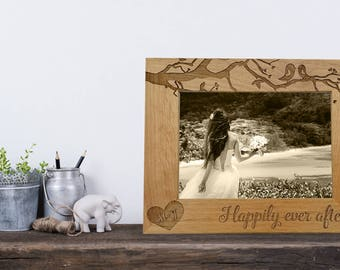 personalized wood frame engraved gift for wedding
