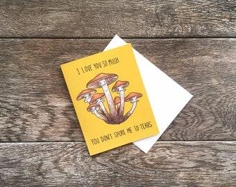 Funny Mushroom Love Greeting Card