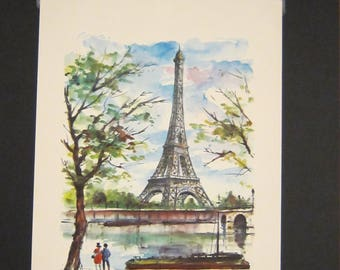 Mid-Century Paris Print by Arno: La Tour Eiffel (Eiffel Tower), Arno Paris Print