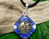 SPIRITUAL GROWTH Orgone Pendant – Lapis Lazuli, Amethyst and Howlite - to Aid Spiritual Journey and Increase Intuition - Small