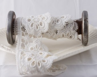 Venice Lace Trim, White Venice Lace