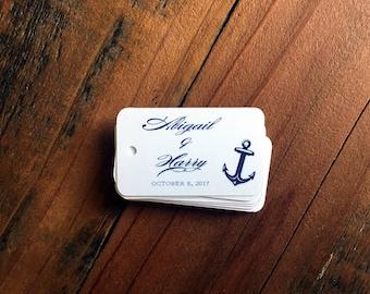 Favor tags, anchor favor tags, anchors away favor tags, bridal shower favor tag, thank you hang tag, nautical favor tag