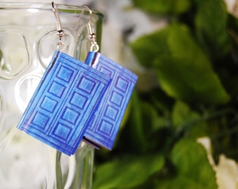 TARDIS Journal Book Earrings