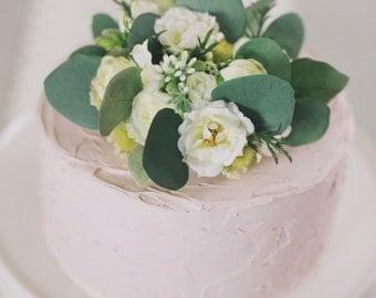 floral cake topper, wedding cake top, flower cake top