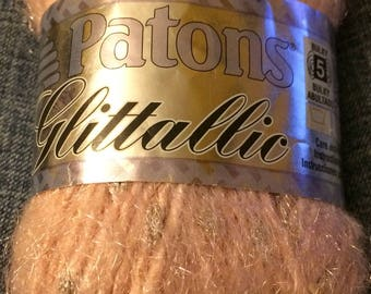 Patons Glittallic Rose Glow Yarn 50G - 5 Bulky