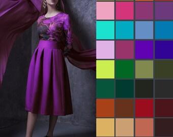 Midi Skirt With Pockets, Custom Skirt, Holiday Clothing, Womens Circle Skirt, Personalized Skirt, Romantic Skirt, Garden Party Skirt