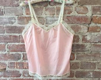 Pink Lace Camisole - Vintage Cami - Vintage Cami Top