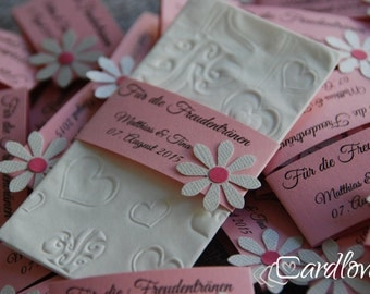 """10 x tears of joy band with embossed tissue """"Flower"""""""