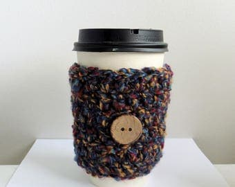 Coffee Cup Sleeve Cozy Take Out Coffee Cup Sleeve Cozy Crocheted Coffee Cup Sleeve Cozy Red Coffee Cup Sleeve Cozy Crocheted Take Out Cozy