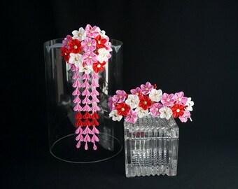 Plum Blossom Ume Maiko Henshin Bridge Kanzashi Set 307