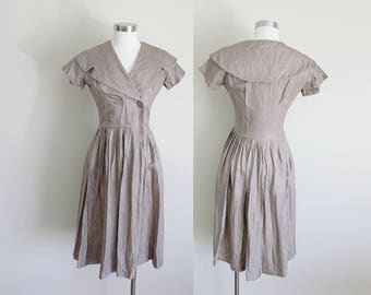 1950s Dress | Evening Dress | Party Dress | Sailor Dress | AS IS | Small