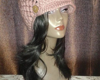 Crocheted Beanie's with Brims