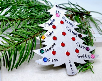 Our Big Personalized Christmas Tree Ornament, Personalized Christmas Ornament, Metal Tree Ornament, Family Ornament, Christmas Gift Decor