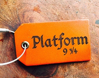 Platform 9 3/4 Luggage Tag, Christmas Gift Under 15 Dollars,  Best Friend Gift, Quote, Baggage Tag, Travel Gift,