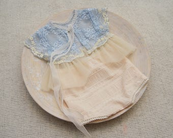 Newborn Girl Outfit, Lace Dress, Baby Props, Newborn Photo Prop, Newborn Top & Panties, Newborn Props, Baby Girl Prop, Newborn Photography