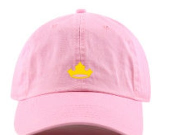 Sleeping Beauty Hat, Aurora dad hat, disney dad hat, dad hat, Sleeping Beauty, Aurora Crown Hat, Make it pink, Make it blue, disney hat