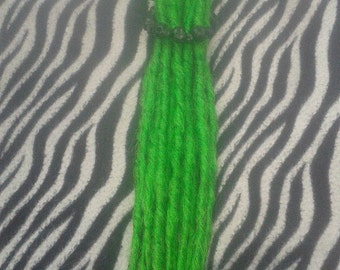 8 double ended synthetic lime green dreads extensions faux canada dreadlocks kanekalon hair