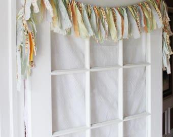 Boho rag curtains | Etsy