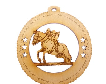 Horse Jumping Ornament - Horse Ornament - Horse Christmas Ornaments - Gift for Horse Lover - Personalized Free