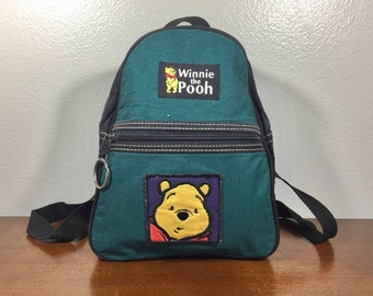 Winnie the Pooh Backpack, Green Backpack, Small Backpack