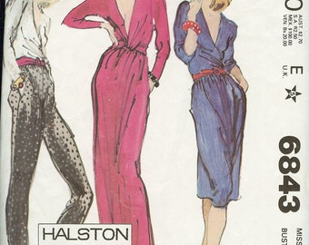 McCall's 6843 Halston Top, Skirt and Pants Sewing Pattern