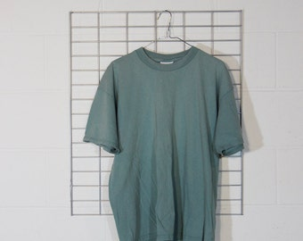 minimal boxy super faded turquoise ish lee shirt