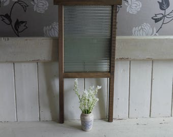Vintage English Wash Board - Glass Board