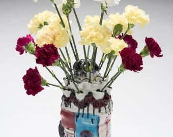 Slipcast and Handbuilt Vase #1