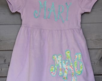Personalized Initial Applique Dress
