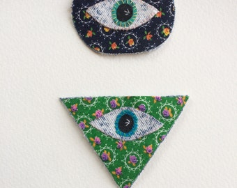 thirdeye customizable patch, bohemian spirit badge, all seeing eye