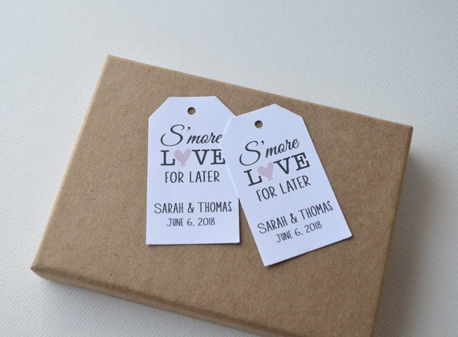 Personalised Wedding Gift Nz : More Love For Later Custom Wedding Favor & Gift Tags