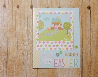Easter Greeting Card / Handmade Greeting Card / Stamped Greeting Card / Greeting Card / Happy Easter