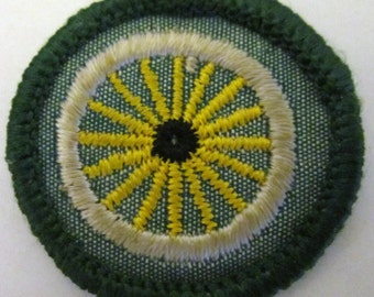 "Vintage Intermediate Girl Scout Badge ""Cyclist"" circa 1960's"