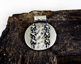 Antique Silver Ethnic Pendant 30x25mm, Tribal Bohemian Gypsy Patterned Pendant, Jewelry Making