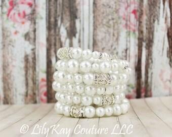 Bridal Bracelet Pearl Cuff Bracelet Bridal Cuff Bracelet Pearl Wedding Bracelet Chunky Pearl Bracelet Pearl Bracelet Bridal Jewelry