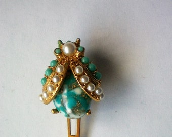 Rare Lady Ellen Klippies Beetle Bug Hair Clip - 5126