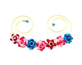Ohana Flower Crown, Flower Headband, Lilo Costume, Stitch Costume, Cosplay Crown, Cosplay Costume, Halloween Headband, Halloween Costume