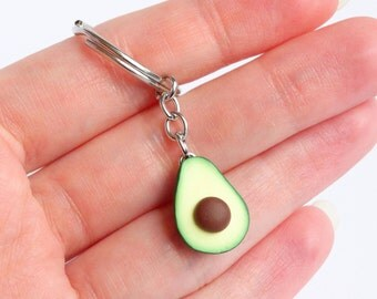 Cute green avocado keychain healthy miniature food avocado accessory avocado present healthfreak powerfood lover gift avocado