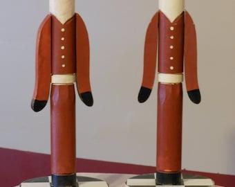 Vintage Santa Claus Candle Stick Holders