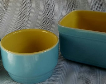 Vintage Refrigerator Dishes by Hall Pottery for Westinghouse