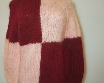 FREE  SHIPPING   Vintage  Mod  Mohair  Sweater