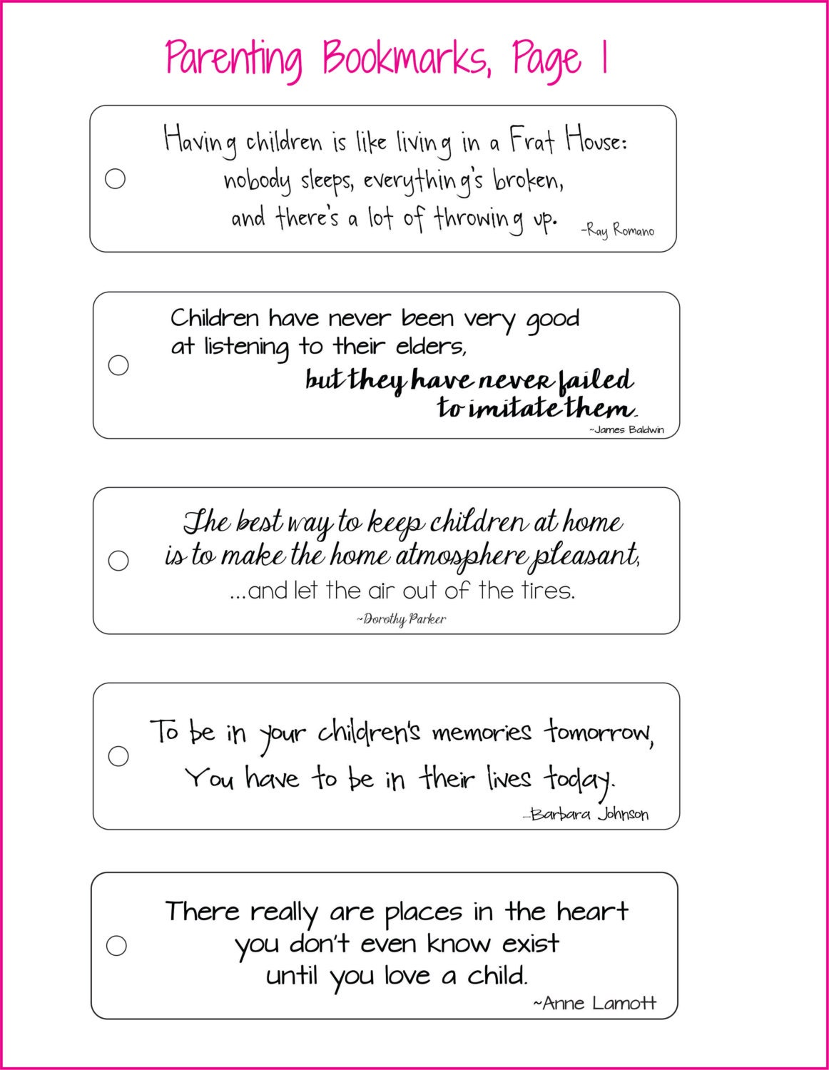 Love Choices Quotes Parenting Bookmarks Choose From Six Quotes See Lists In Photos