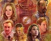 The Flash Art Collage 11X17 Print