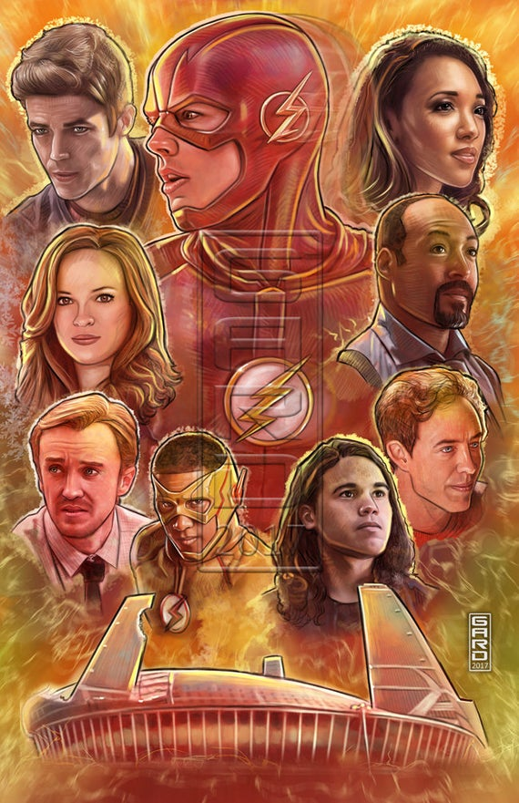 The Flash Art Collage 11X17 Print
