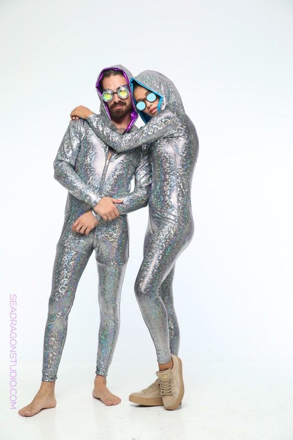 Holographic Mens Festival Jumpsuit 12 Colors by ...