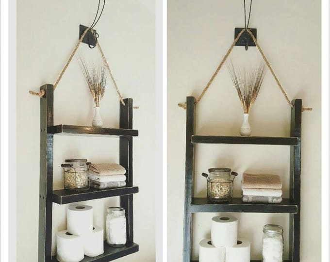 Medium Bathroom Shelf - Rope Shelf - Book Shelf