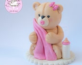 Teddy Bear Cake Topper Ba...