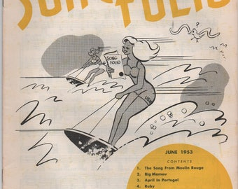 Armed Forces Song Folio, June 1953, The Song From Moulin Rouge, Big Mamou, April In Portugal, Ruby, Caravan, The Nearness Of You